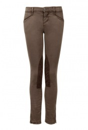 Vintage Stallion Skinny Zip Ankle Jodhpur - pocket detail: small back pockets, pockets at the sides; hip detail: front pockets at hip, fitted at hip (bottoms); waist: mid/regular rise; predominant colour: chocolate brown; occasions: casual; length: ankle length; trends: trousers; fibres: cotton - stretch; waist detail: narrow waistband; fit: skinny/tight leg; style: standard