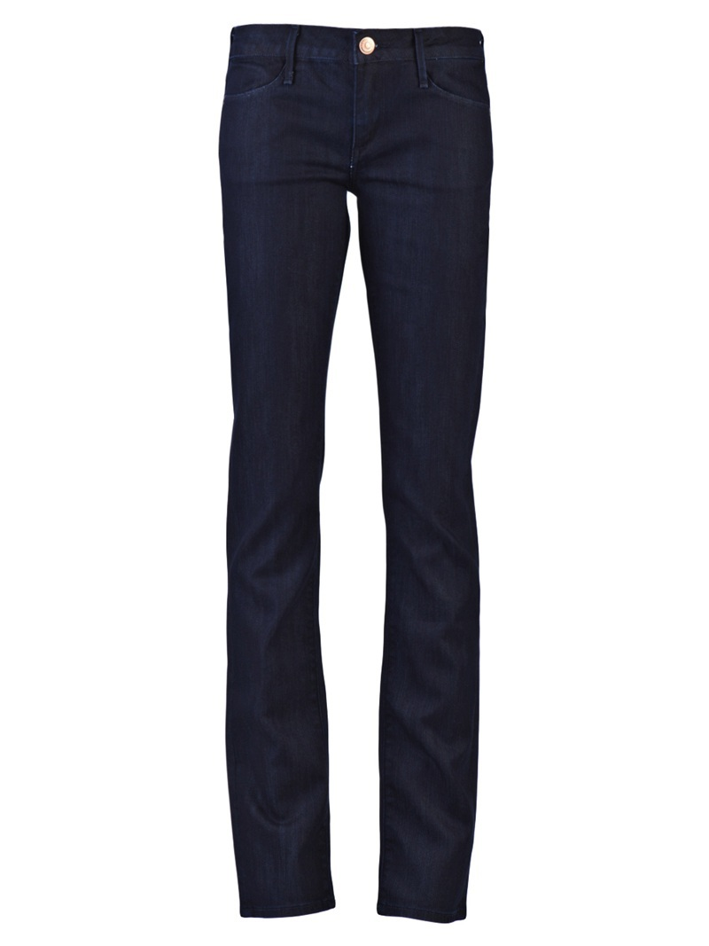 Decca 93 B Jean - style: straight leg; length: standard; pattern: plain; pocket detail: pockets at the sides; waist: mid/regular rise; predominant colour: indigo; occasions: casual; trends: cowboys and indians, trousers; fibres: cotton - mix; material texture: denim; texture group: denim; pattern type: fabric; pattern size: standard